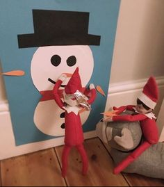 Pin the tail on the snowman