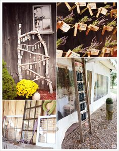 plan de table mariage rustique échelle feneêtre pince à linge
