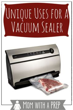 If you think that your vacuum sealer is only good for storing foods for the freezer.think again! Here are some unique ways you can use it that have nothing to do with the freezer! READ MORE>>> Survival Food, Survival Prepping, Disaster Preparedness, Food Saver Vacuum Sealer, Best Vacuum, Thing 1, Preserving Food, Freezer Meals, Freezer Hacks