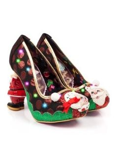 Mr And Mrs Clause Molded Santa Heels