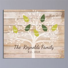 Give a Personalized Family Tree Wall Canvas as a special personalized housewarming gift or Mother's Day gift this year. Free personalization on canvas Plaques. 50 Wedding Anniversary Gifts, Personalized Housewarming Gifts, Wall Canvas, Tree Canvas, Personalised Family Tree, Family Wall Art, Handmade Signs, Family Birthdays, Trip Planning