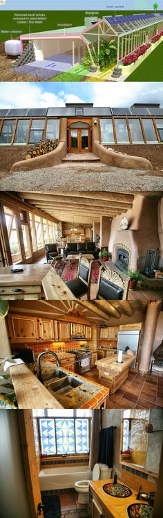 Earthship from project to reality. Earthship from project to reality. Natural Building, Green Building, Building A House, Earth Sheltered Homes, Eco Buildings, Underground Homes, Natural Homes, Earth Homes, Sustainable Living