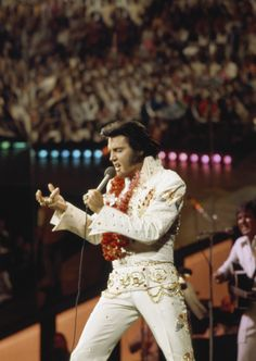 January 14, 1973, Elvis performing live for his NBC Aloha from Hawaii Concert.