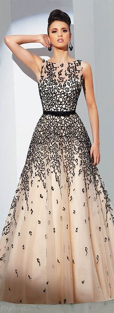 Tony Bowls Low Back Evening Gown