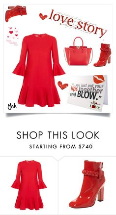 """Beauty in red"" by ynk24 ❤ liked on Polyvore featuring Valentino"