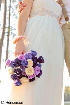 Muncle Fred Art Custom Made Felt-Flower-Wedding Bouquets for Brides and/or Bridesmaids #bouquets #handmade #munclefredart #weddings