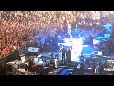 """▶ Pearl Jam - """"GABBA GABBA Hey"""" poster on stage, Wells Fargo Arena, Philly, October 21, 2013 - YouTube"""