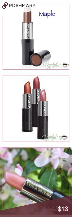 Mary Kay®️ Creme Lipstick - Maple Rich, stay-true color with a satin finish. Mary Kay Makeup Lipstick