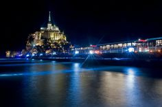 France - Normandie - Manche - Le 21 mars 2015, la marée du siècle au Mont-Saint-Michel
