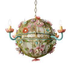 Flower Festival Beaded Chandelier Globe : All Childrens Lighting at PoshTots