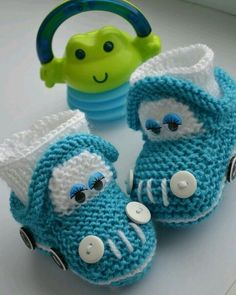 Baby Knitting Patterns Slippers Booties - buy or order in the Internet Mag . Baby Knitting Patterns, Baby Booties Knitting Pattern, Knit Baby Shoes, Crochet Baby Boots, Knit Baby Booties, Booties Crochet, Crochet Baby Clothes, Crochet For Boys, Crochet Shoes
