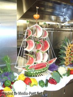 watermelon ship--- check out FB Healthy Eating with Michelle Holloman!  She has fantastic ideas!