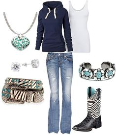 """""""Blue Cowgirl"""" by ashleyelliott-1 ❤ liked on Polyvore"""