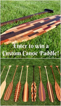 Pin to Win a Free Custom Canoe Paddle From Winnebago Paddles! Ends 6/30. #Sweepstakes
