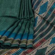 Sujata Green Ombre Printed Tussar Silk Saree 10008020 - profile - AVISHYA.COM