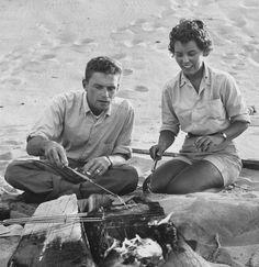 """Tomboy Style ~ Beach barbecue on The Cape by Eliot Elisofon, 1953  """"As they say on my own Cape Cod, a rising tide lifts all the boats."""" --J.F.K."""