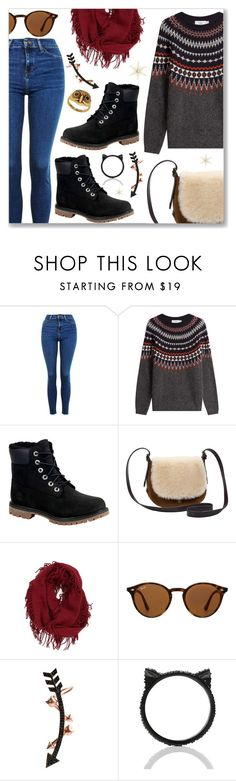 """""""Outfit of the Day"""" by dressedbyrose ❤ liked on Polyvore featuring Topshop, Closed, Timberland, UGG, BP., Ray-Ban, Wild Hearts, Kate Spade and Lucky Brand"""