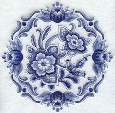 Hey, I found this really awesome Etsy listing at https://www.etsy.com/listing/168828171/delft-floral-medallion-1-machine