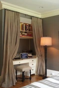 Remarkable 25 Fabulous Ideas For A Home Office In The Bedroom Casa Largest Home Design Picture Inspirations Pitcheantrous