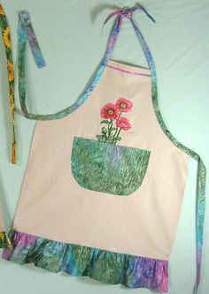 Beautiful fabric, beautiful embroidery design, beautiful apron.