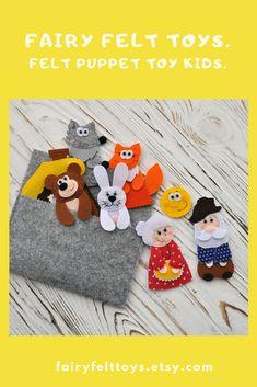 even more felt projects like goldberg Felt Puppets, Felt Finger Puppets, Puppet Toys, Puppet Crafts, Baby Sewing Projects, Felt Projects, Pete The Cats, Sequencing Activities, Craft Show Ideas