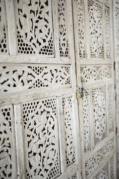 Indian carved white screen