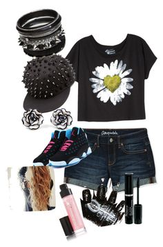 """Swag Black"" by aranzaortiz ❤ liked on Polyvore featuring Aéropostale"