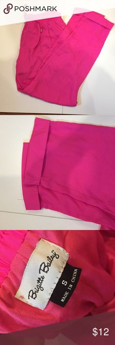 HOT PINK PANTS💕 Cute drawstring hot pink pants with straight leg bottoms, worn once! Make an offer :) Pants Straight Leg