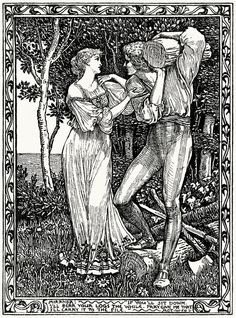 Walter Crane, from Eight illustrations to Shakespeare's Tempest, London, 1894.