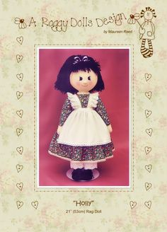 Free Doll Clothes Sewing Patterns | Primitive/Homespun RAG DOLL SEWING/CRAFT PATTERN | eBay