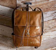 Beckett Leather Travel Backpack #potterybarn