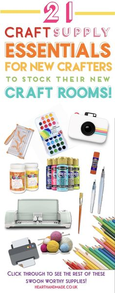 Craft supply essentials for your craft room or art studio. Find out which craft supplies I recommend for your essential toolkit and which craft supplies are nice to have and will allow you to make anything you like! New Crafts, Crafts To Sell, Home Crafts, Diy And Crafts, Paper Crafts, Decor Crafts, Diy Locker, Do It Yourself Inspiration, Cool Diy Projects