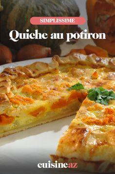 La quiche au potiron est une pâtisserie salée parfaite en entrée. #recette#cuisine#quiche #courge #potiron#patisseriesale
