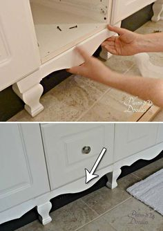 20 Inexpensive Ways to Dress Up Your Home with Molding 20 Inexpensive Ways to Dress Up Your Home with Molding Looking for an easy and inexpensive way to dress up your old furniture or upgrade . Home Upgrades, Home Remodeling Diy, Home Renovation, Moldings And Trim, Diy Molding, Molding Ideas, Wood Molding, Contemporary Home Decor, Furniture Restoration