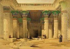 Grand Portico of the Temple of Philae by David Roberts