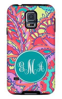 Bright & Colorful Monogrammed Bumper Phone Cases