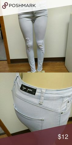 4e564ba0d6 Skinny Jeans These skinny jeans are a size 11 but they fit like a Medium.