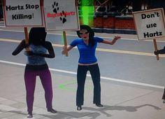 Twitter / @BoyCott_Hartz: Sims against @hartzpets