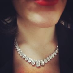 A smple, but besutiful diamond rivière, coming up for auction at Bonhams, NY More