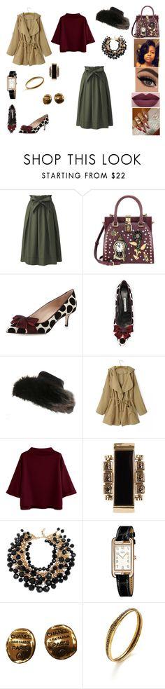 """&"" by ohbabyimrachel ❤ liked on Polyvore featuring Uniqlo, Dolce&Gabbana, Manolo Blahnik, NYX, Lanvin, Yves Saint Laurent, Hermès, Chanel and Amrapali"
