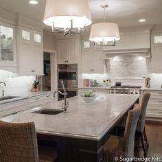 Modern Kitchen Counters white pearl quartzite kitchen - modern - kitchen countertops