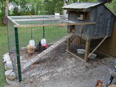 Don't you love this repurposed barnwood chicken coop?