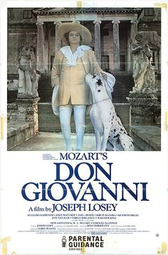 "Playbill of ""Don Giovanni"" movie by Joseph Losey"