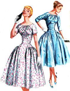 1950s Dress Pattern Simplicity 1537 Womens Drop by paneenjerez, $55.00