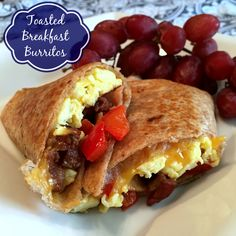 Toasted Breakfast Burritos - Yummy, hot & a perfectly portable breakfast! @allrecipes #MyAllrecipes #AllrecipesAllstars #breakfastburrito #ad #AllrecipesICBINB