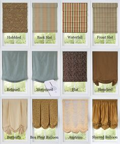 Decor54 Custom Roman Styles from classic, knife, ribbed, relaxed, balloon shades and more| Bestwindowtreatments.com