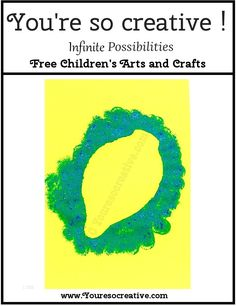 Your little artist will have fun making this craft. For more FREE kids craft projects please visit www.youresocreative.com #FREECRAFTS