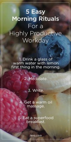 Morning routines you need to try this week. - www. levo.com