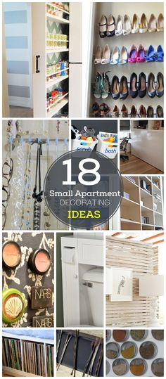 18 DIY Small Apartment Decorating Ideas | Click for Tutorials | DIY Organization Ideas for Small Spaces