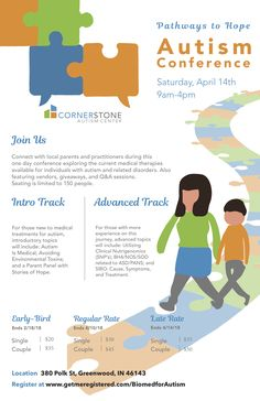 Connect with local parents and practitioners during a one day autism conference! April 2018 in Greenwood, IN. Learn more at this link! #autism